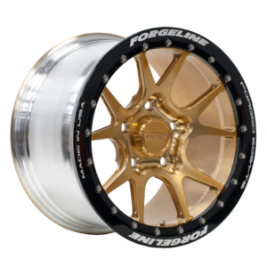 15-inch GS1R Beadlock Finished in Transparent Gold with Satin Black Beadlock Ring