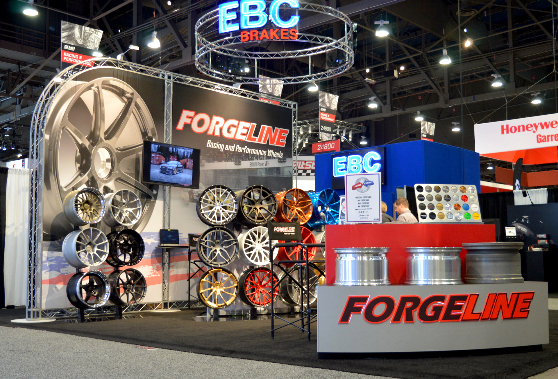 Calm Before the Storm in the Forgeline Booth at the 2017 SEMA Show