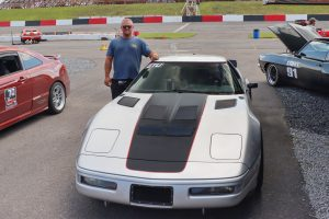 JB Boyer and his Chevrolet C4 Corvette on Forgeline One Piece Forged Monobklock ZO1R Wheels at Drive Auto X UMI Motorsports Park