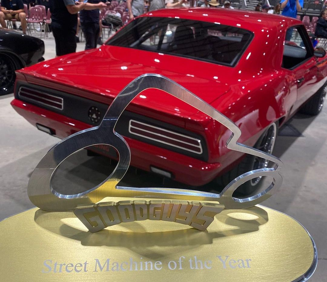 2021 Street Machine of the Year Trophy with Chad's 1969 Mercury Rising Camaro on Forgeline AKL305 Wheels