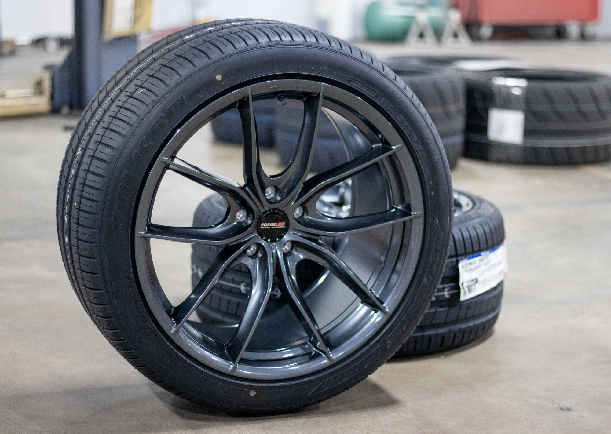 Forgeline Flow Formed F01 and Falken FK510 Tire Package for S550 Ford Mustang