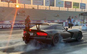 Black Dodge Viper on Forgeline GS1R-6 Beadlock at 2021 MITM Elite